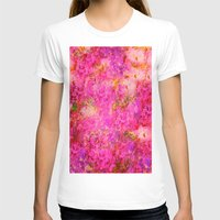shabby chic T-shirts featuring Pink and Red Vintages Roses So Shabby Chic by Saundra Myles