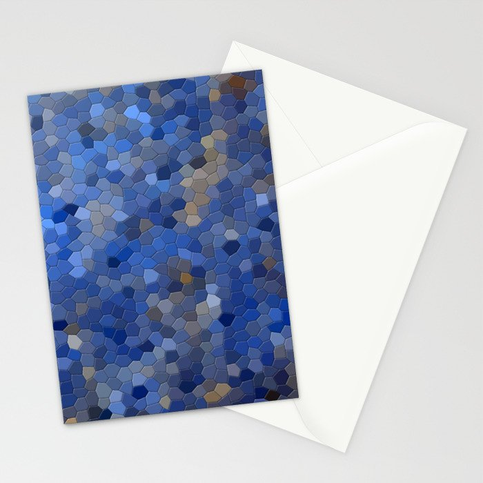 Blue mosaic tile abstract Stationery Cards