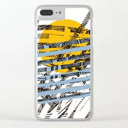 - blue or not - Clear iPhone Case