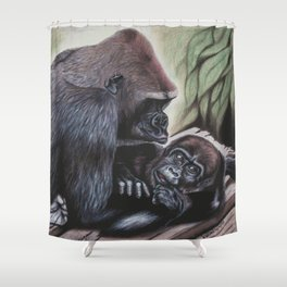 Sekani and Adelina Shower Curtain