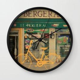 Yellow Bike Wall Clock
