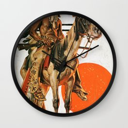 Joseph Christian Leyendecker - Indians And Bonfire - Digital Remastered Edition Wall Clock