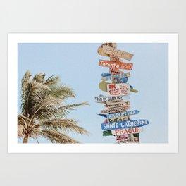 summer wanderlust Art Print