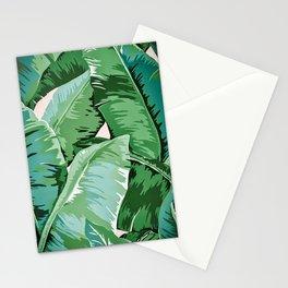 Banana leaf grandeur II Stationery Cards