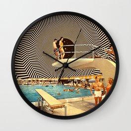 Illusionary Pool Party Wall Clock