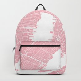 Pink City Map of New York, USA Backpack
