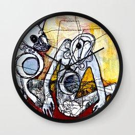 A Dozen Jackals Wall Clock