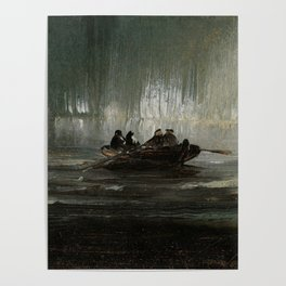 The Northern Lights over Four Men in a Rowboat by Peder Balke Poster