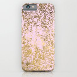 Pale Pink and Gold Patina Design iPhone Case