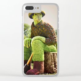 Woodcutter Clear iPhone Case