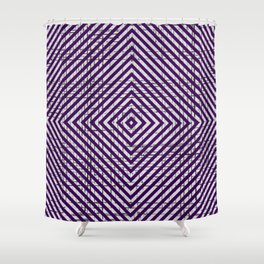 The System - Purple Shower Curtain