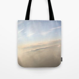 floating on the sky Tote Bag