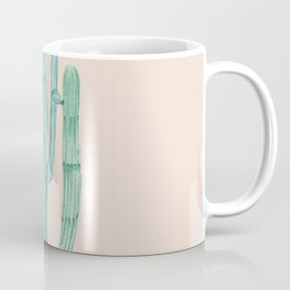 Solo Cactus Mint on Coral Pink Coffee Mug