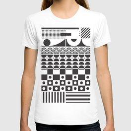 Vector texture - BW. T-shirt