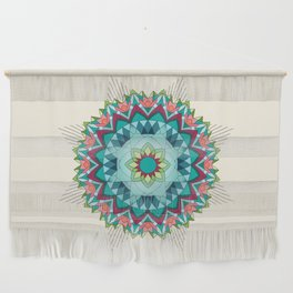 Southwest Flower Mandala Wall Hanging
