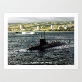USS THOMAS A. EDISON (SSBN-610) Art Print
