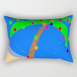 Christmas Palm Rectangular Pillow