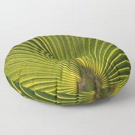 Green Plam Leaf Floor Pillow