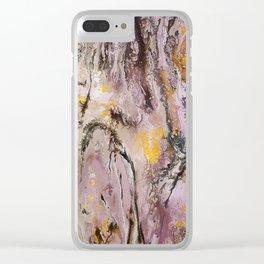 Aztecs, acrylic on canvas Clear iPhone Case