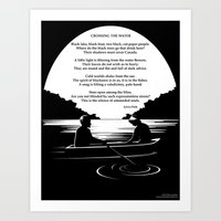 sylvia plath Art Prints featuring Crossing the Water (poem) by Sylvia Plath by People Matter Creative