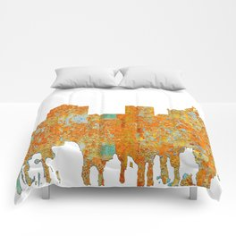 Greensboro, NC Skyline - Rust Comforters