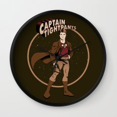 Captain Tightpants Wall Clock