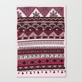 Yzor pattern 004 lilac Canvas Print