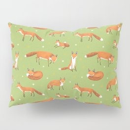 Red Foxes Pillow Sham