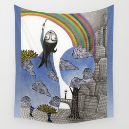 Rainbow Mine Wall Tapestry