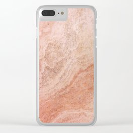 Polished Rose Gold Marble Clear iPhone Case