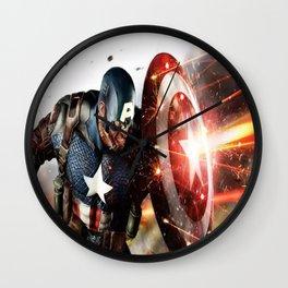Man Of Captain In America Wall Clock