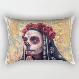 """""""Katrina"""" - Skull girl Rectangular Pillow"""