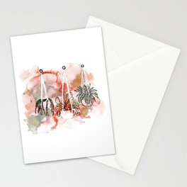 alcohol ink - hanging plants Stationery Cards