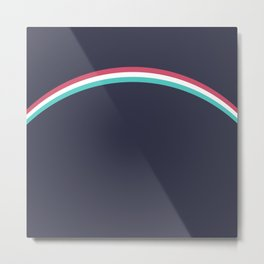Italo Retro Rainbow Metal Print