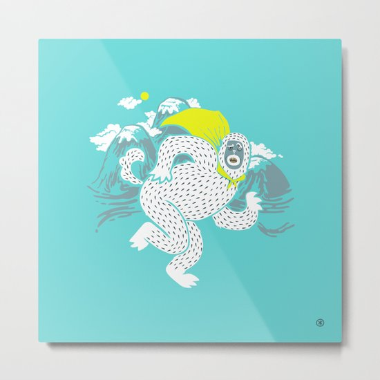 Save the Yeti Metal Print
