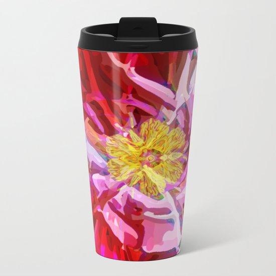 Abstract Flower Metal Travel Mug