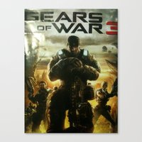 gears of war Canvas Prints featuring GEARS OF WAR by _C.B.Cs