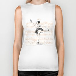 Ballerina print Biker Tank