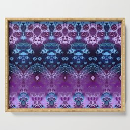 Hippy Blue and Lavender Serving Tray