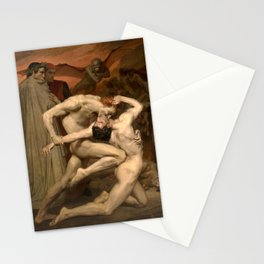 Dante and Virgil in Hell by William Bouguereau Stationery Cards