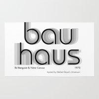 bauhaus Area & Throw Rugs featuring ITC Bauhaus by Ana Guillén Fernández