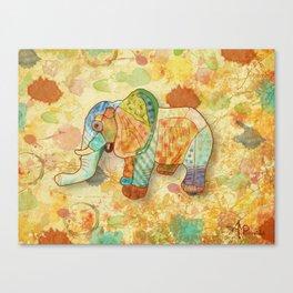 Patchwork Elephant Canvas Print