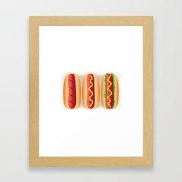Hot Dog Sandwiches Framed Art Print