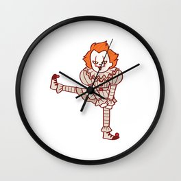 Evil clown cartoon Wall Clock