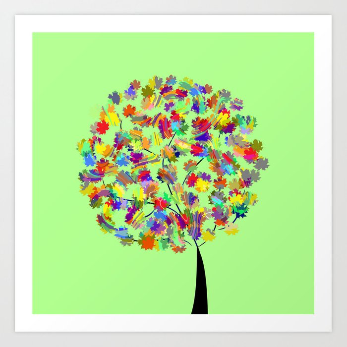 Tree of colors Art Print