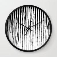 stripe Wall Clocks featuring Stripe by Jack Newbury