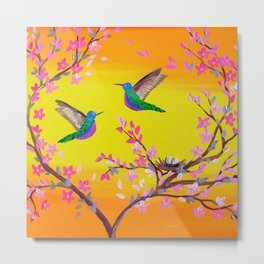 2 Birds with a Nest Metal Print