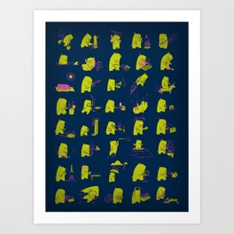 Grizzly Adventures Art Print
