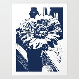 Sunflower nile Art Print
