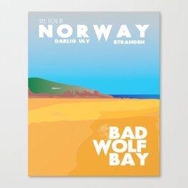Doctor Who Bad Wolf Bay Travel Poster Canvas Print